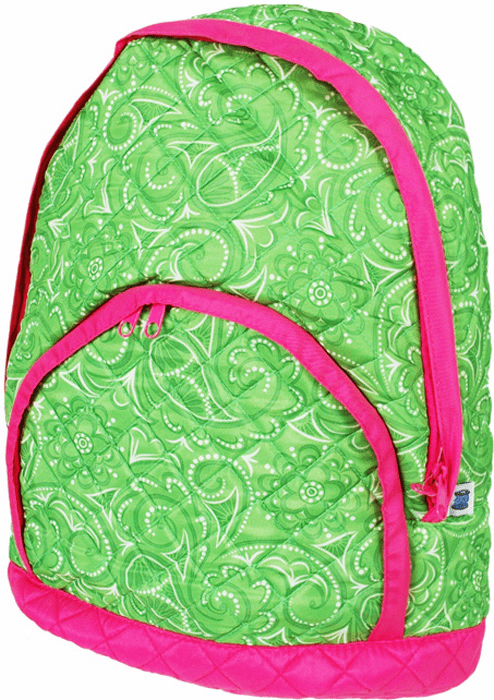 Quilted Backpacks Spring Green Paisley
