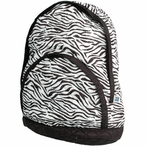 Quilted Backpacks Zebra Print