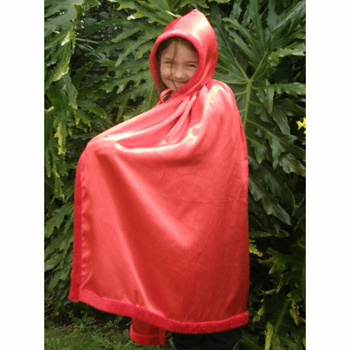 Red Shimmery Princess Dress-up Play-Pretend Cape - PERSONALIZE ME!