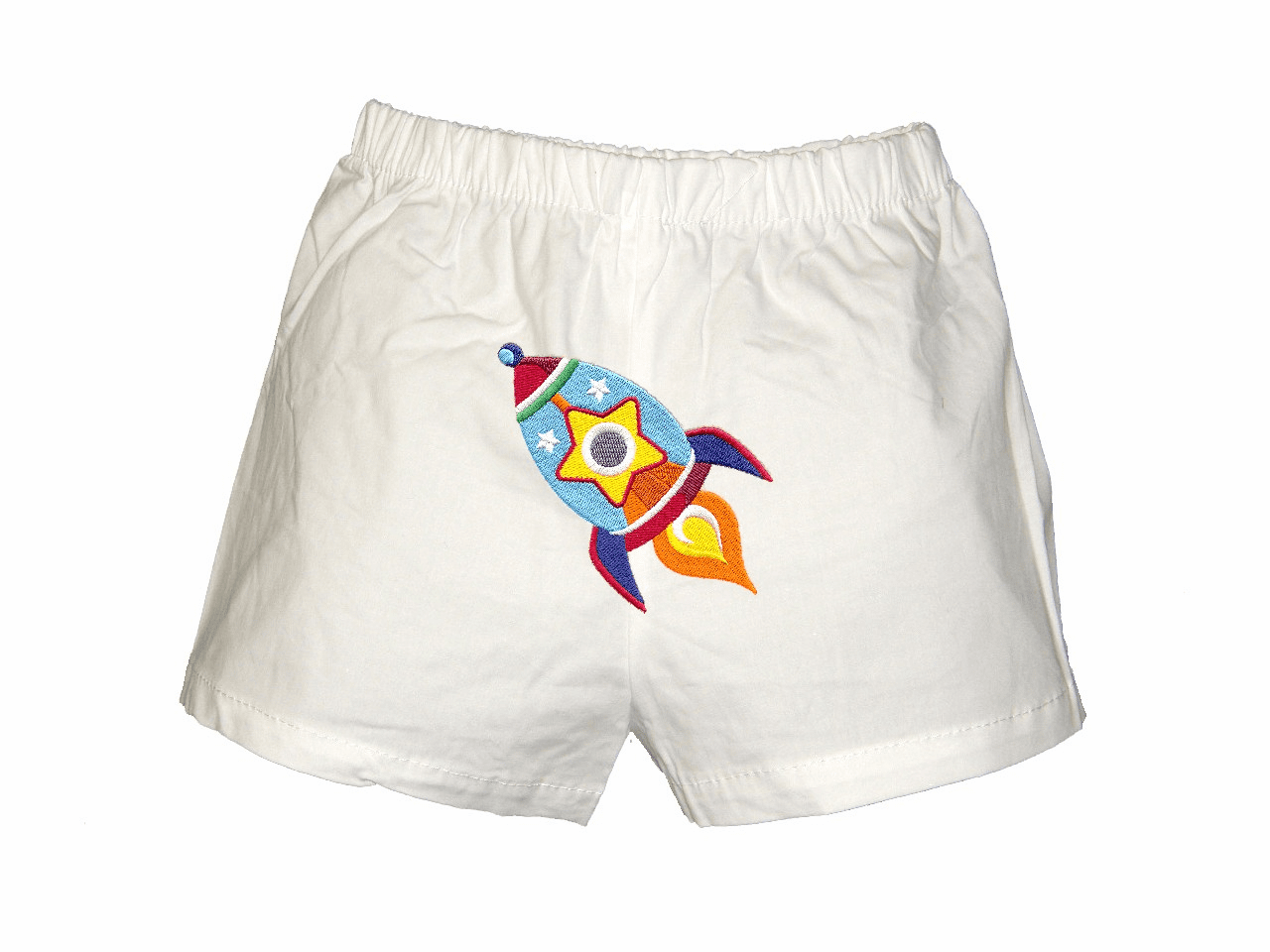 Rocket Personalized Baby Infant Boxers White