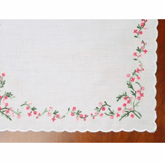 Rose Embroidered Four Sides Handkerchief Personalize Me