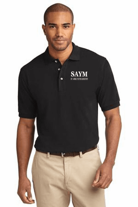SAYM Port Authority� Pique Knit Polo Adult Size