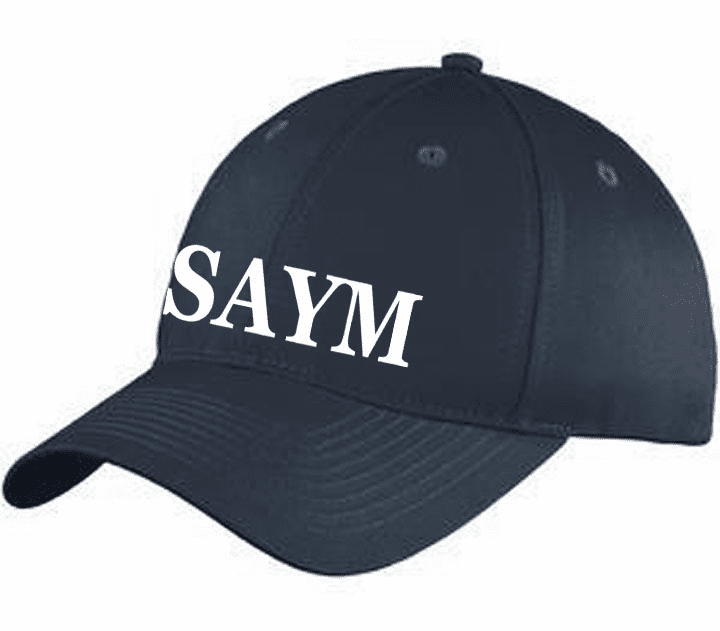 SAYM Port & Company Six-Panel Unstructured Twill Cap