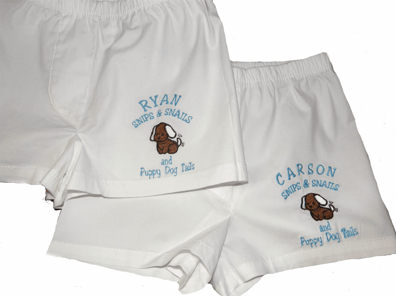 Snips & Snails Personalized Baby Infant Boxers White