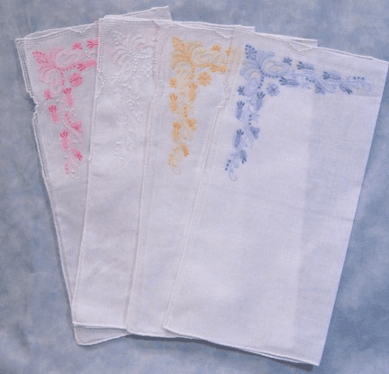 Spring Meadow Embroidered Cotton Handkerchief Personalize Me