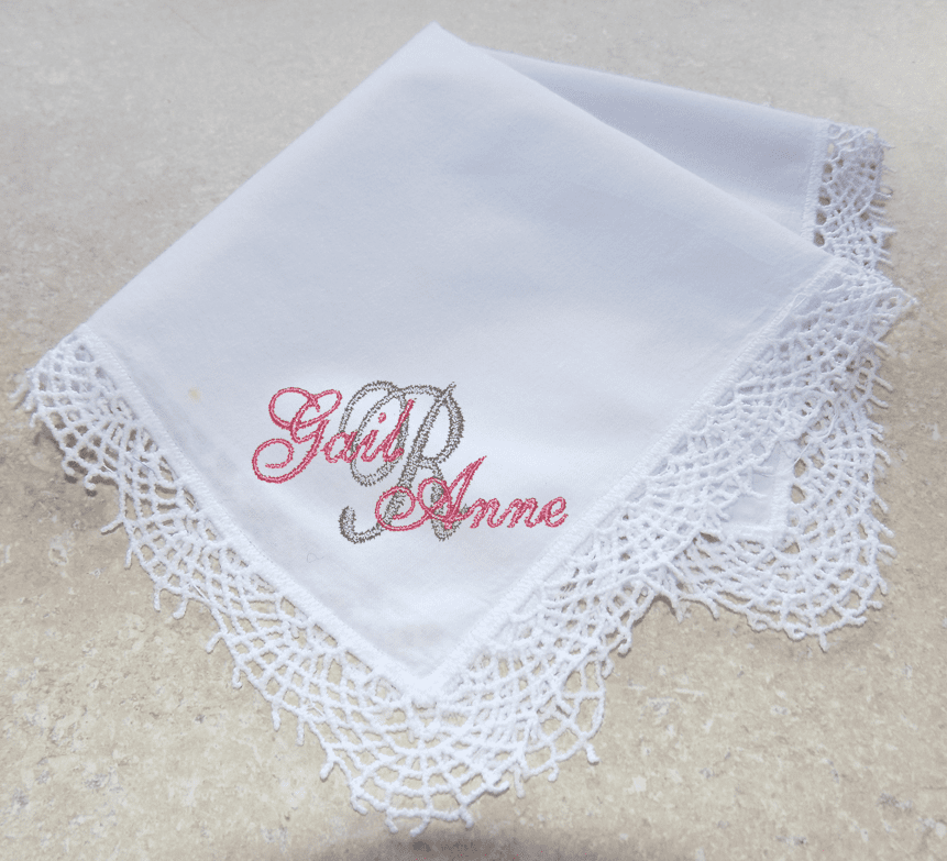Stunning Four Corners 100% Cotton Bridging Lace White Wedding Handkerchief