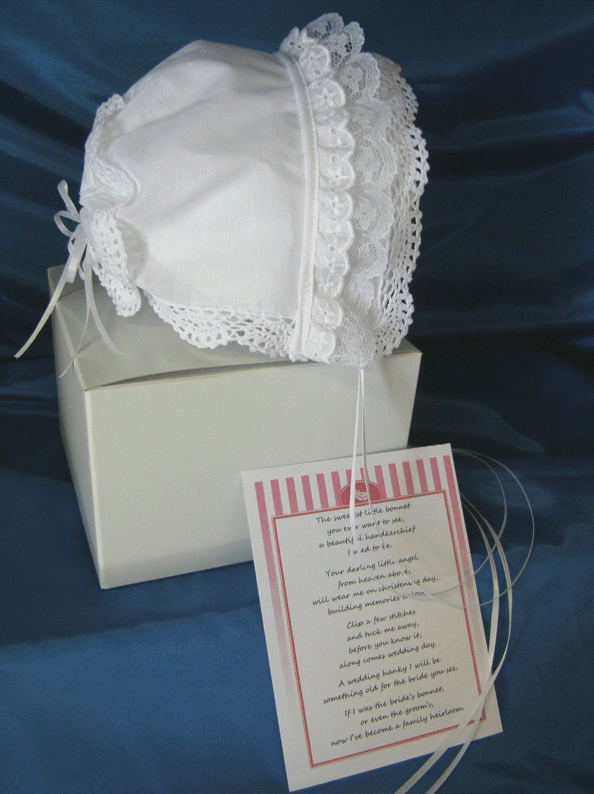 Stunning Lacy Handkerchief Christening Bonnet Hand Crafted