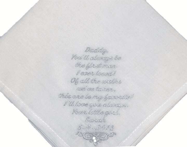 Stunning Wedding Poem on White Lace Custom