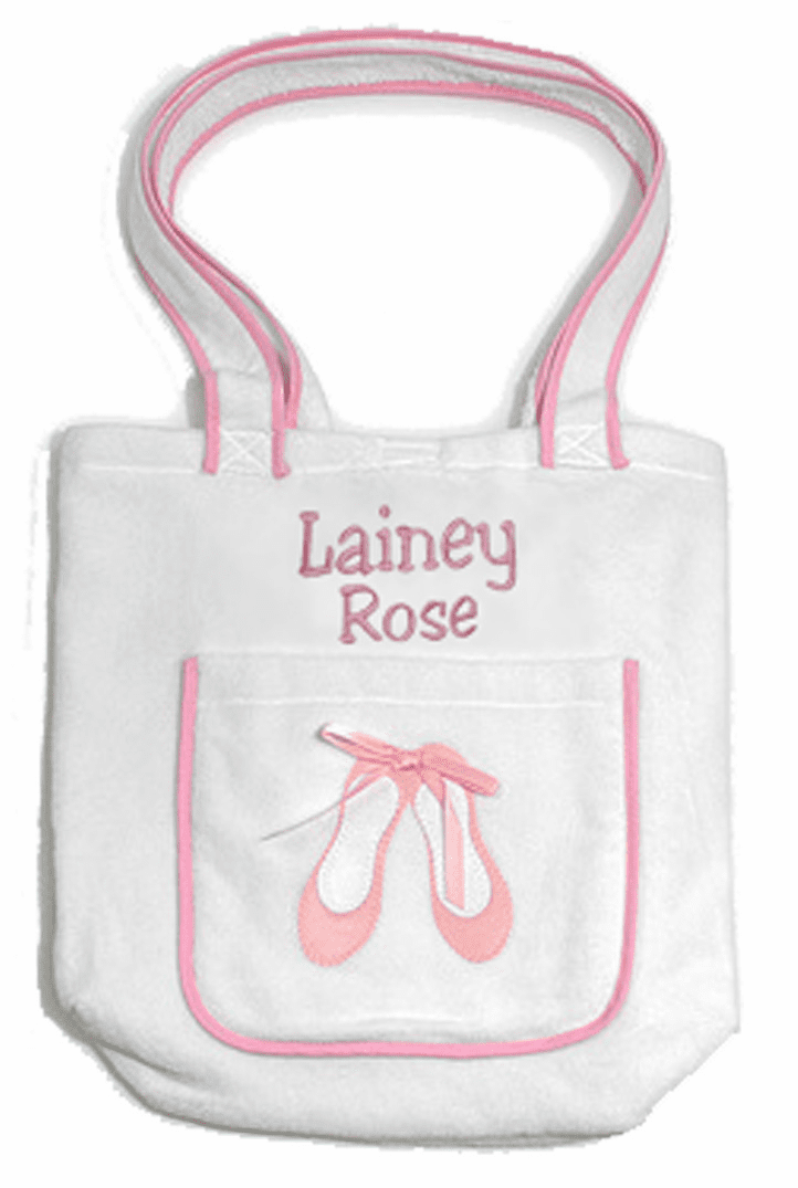 Tote Bag 100% Cotton Terry Velour (Ballet) Personalize Me