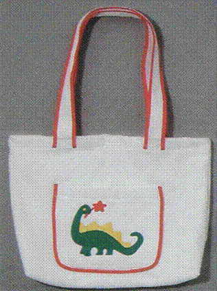 Tote Bag 100% Cotton Terry Velour (Dinosaur) Personalize Me