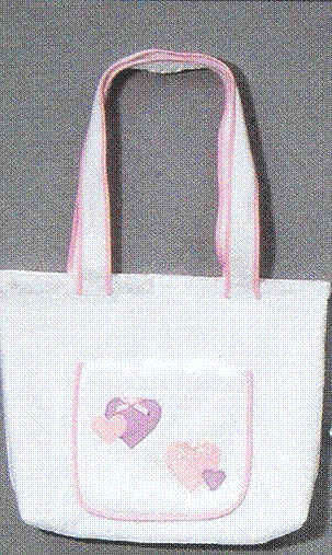 Tote Bag 100% Cotton Terry Velour (Hearts) Personalize Me