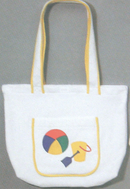 Tote Bag 100% Cotton Terry Velour (Yellow Pail) Personalize Me