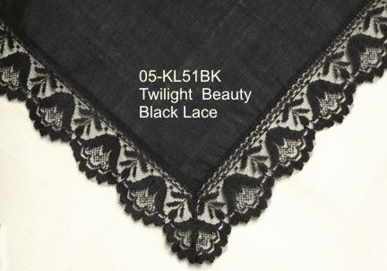 Twilight Beauty Black Lace Handkerchief