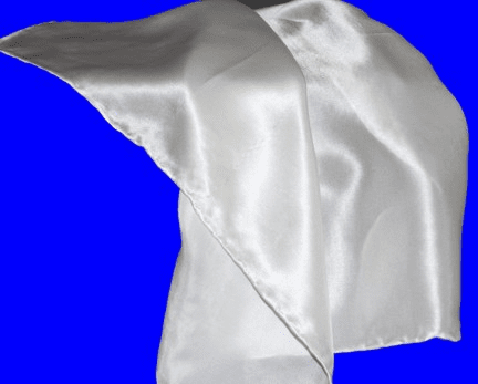White 12mm Silk Satin Handkerchief Hand Rolled Hem