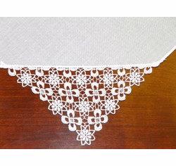 White floral embroidered handkerchief Personalize me