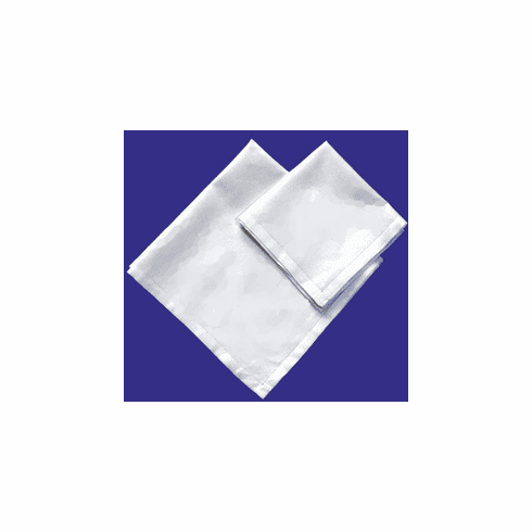 White Hemstitched High Quality Mens Handkerchief 16in x 16in