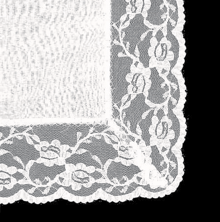 White Lace Border Bridal Ladies' Handkerchief Personalize Up to 8 Lines