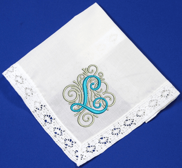 White Ladies Sunrise Lace Handkerchief 100% cotton