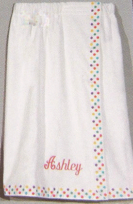 "Women's 30"" Shower Wraps with Trim 100% Cotton Terry Personalize Me"