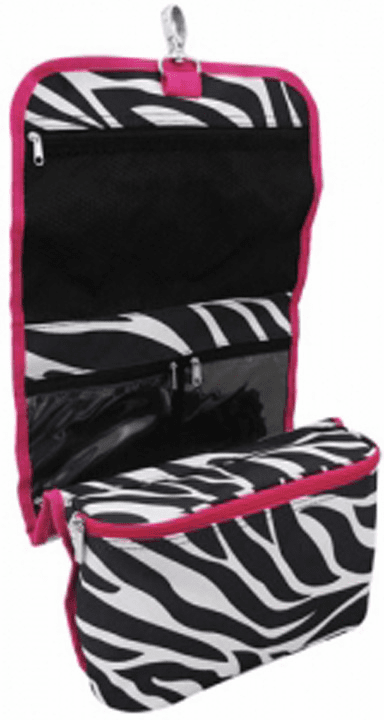 Zebra & Hot Pink Hanging Make-Up, Jewelry, Craft Holder