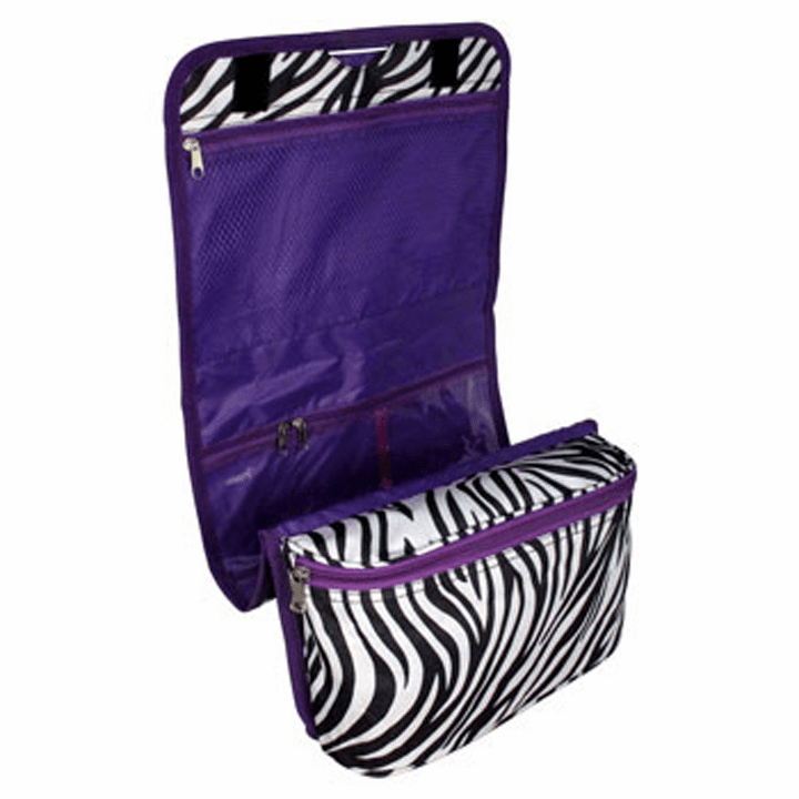 Zebra & Purple Hanging Make-Up, Jewelry, Craft Holder