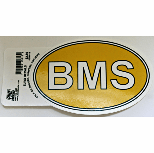 BMS Decal Oval