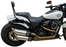 18-Up Satin Chrome Fat Bob Exhaust Pipes