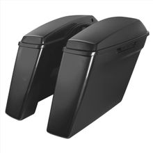 """'14-Present Harley No Cut Touring 4"""" Stretched Saddlebags UNPAINTED"""