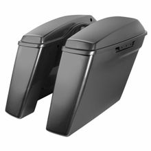 "'14- Present Harley No Cut Touring 4"" Stretched Saddlebags Charcoal Pearl"