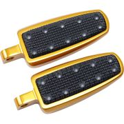 Banana Board Footpegs Gold With Rivets