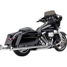 Speedster Dual Exhaust-Fishtail-Chrome