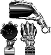 "Boss Audio Skull Hands 3"" Bar Mount Bluetooth-Chrome"