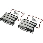 Performance Machine Scalloped Platinum Cut Rocker Box Covers- Twin Cam