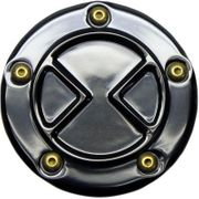 Carl Brouhard Designs Bomber Points Cover-Black-Twin Cam