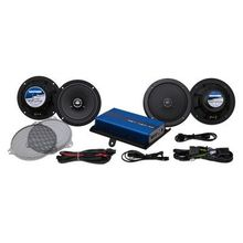HogTunes 6.5 inch Front/Rear Speaker Kit-  200w Amp