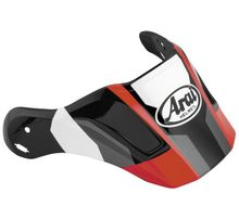 Arai XD4 Replacement Visors-Catch Red