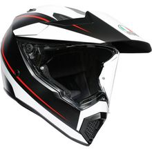 AGV - AX9 Helmet - Matte Black/White/Red