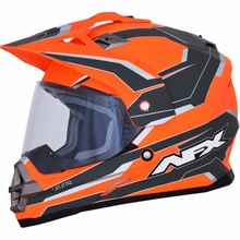 AFX - FX-39DS S2 Helmet - Matte Neon Orange/Carbon