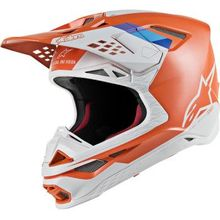 Alpinestars (MX) - Supertech M8 Helmet - Contact - MIPS - Light Orange/Cool Gray