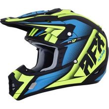 AFX - FX-17 Helmet - Force - Matte Black/Green/Blue