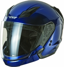 FLY RACING - TOURIST SOLID HELMET BLUE