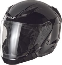 FLY RACING - TOURIST SOLID HELMET BLACK