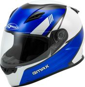 GMAX - FF-49 FULL-FACE DEFLECT HELMET WHITE/BLUE