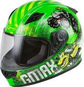 GMAX - YOUTH GM-49Y BEASTS FULL-FACE HELMET NEON GREEN/HI-VIS