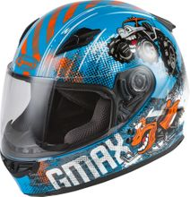 GMAX - YOUTH GM-49Y BEASTS FULL-FACE HELMET BLUE/ORANGE/GREY