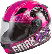 GMAX - YOUTH GM-49Y BEASTS FULL-FACE HELMET PINK/PURPLE/GREY