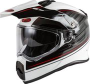 GMAX - AT-21 ADVENTURE RALEY HELMET WHITE/GREY/RED