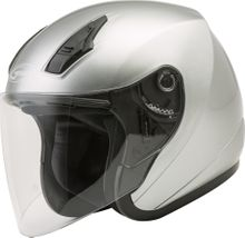 GMAX - OF-17 OPEN-FACE HELMET DARK SILVER