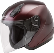 GMAX - OF-17 OPEN-FACE HELMET WINE RED