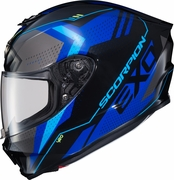 SCORPION EXO - EXO-R420 FULL-FACE HELMET SEISMIC BLUE